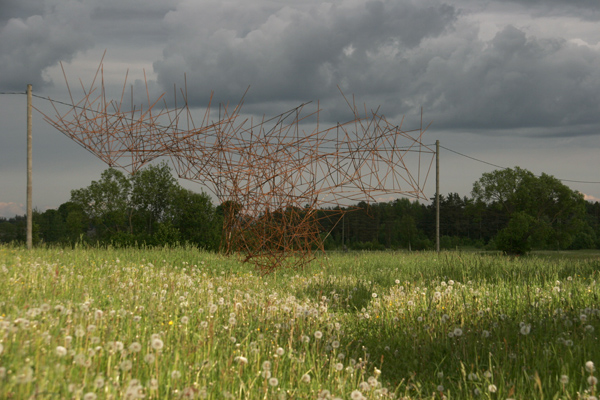 "Bachelors work in LMA ""Right Place"" 2012Metal, 6x10x5 mMadona district, Poči, Latvia"